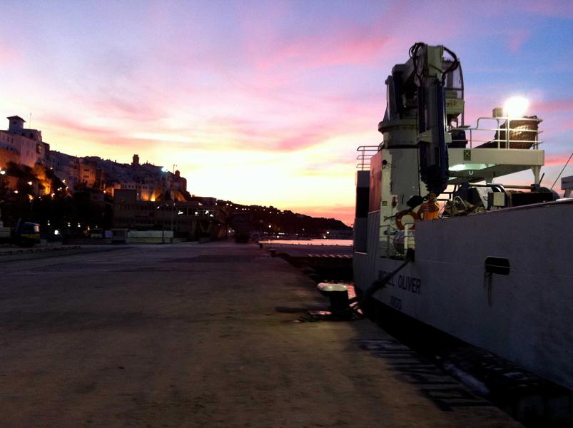 Atardecer en el Port de Maó © IEO