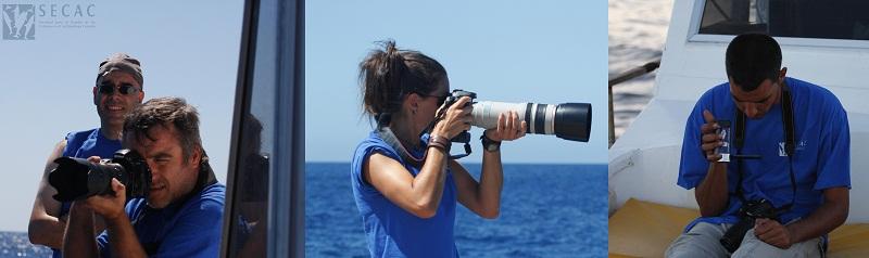 Fotografía y vídeo son tareas primordiales a bordo ©SECAC