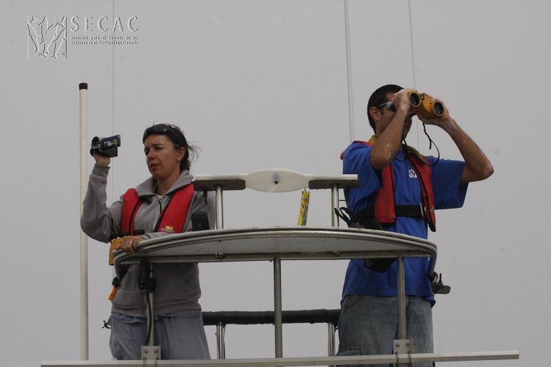 Nuria Varo y Daniel González en su turno de torreta ©SECAC