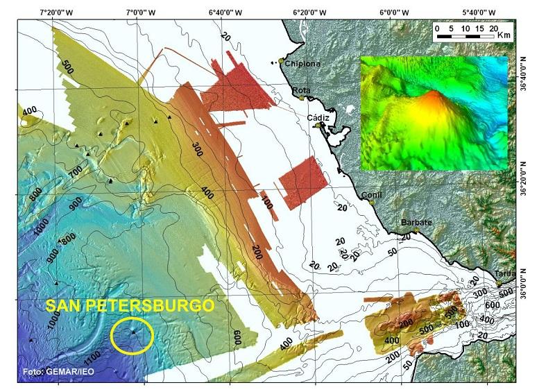 Observad la posición que ocupa San Petersburgo y su proximidad al Estrecho de Gibraltar (en un bloque 3D podréis ver su morfología). Si sois meticulosos, podréis apreciar dos canales excavados en el fondo del mar; uno de ellos más largo y sinuoso (que par