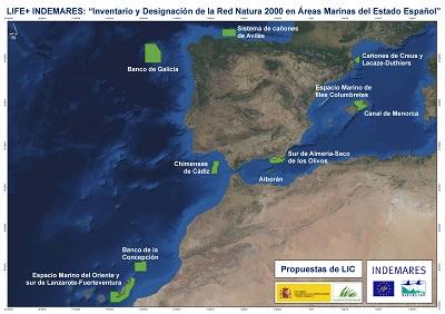 Mapas de zonas LIC propuestas