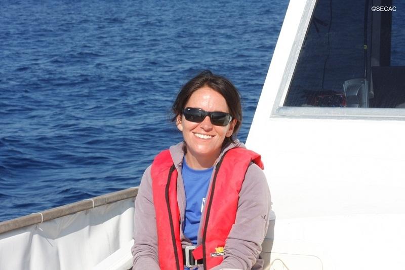 La voluntaria Cristina Vázquez en su turno de descanso ©SECAC