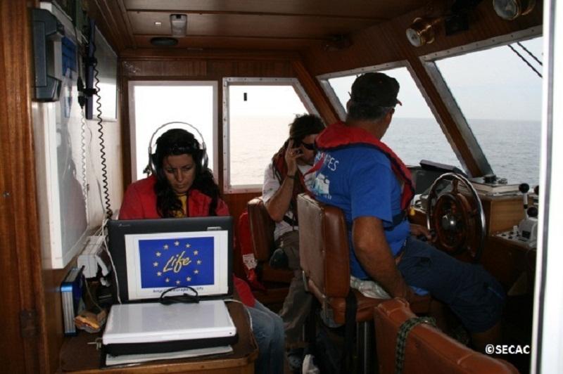 SECAC recogiendo datos en el puente ©SECAC