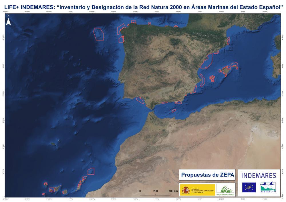 Localización áreas ZEPA INDEMARES