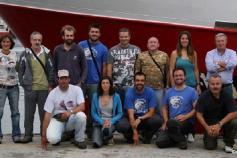 Equipo de observadores de la CEMMA y tripulación del Anxuela. ©CEMMA