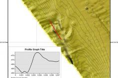 Conjunto de relieves someros con morfología de volcán de fango, situados en el talud superior en las inmediaciones de la zona de surcos y canales. Son zonas que tienen grandes posibilidades de acoger un hábitat 1180 © IEO