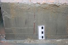 Bloque de sedimento de la box corer mostrando organismos perforantes ©IEO