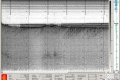 Captura de pantalla de la sonda paramétrica (TOPAS) de un perfil levantado en las cercanías a la localidad de Rota ©IEO