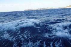 Vista del estado del mar día del mareo. Campaña Agosto 2011 Canal de Menorca © IEO