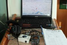 Computer connected to the second GPS and acoustic system ©CEMMA