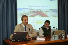 Ignacio Torres presentando el proyecto LIFE+ INDEMARES