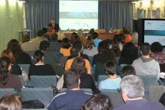 Ignacio Torres, director de INDEMARES durante la presentación en el Seminario