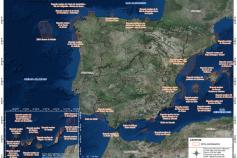 Mapa de las ZEPA marina declaradas. Fuente: Fundación Biodiversidad.