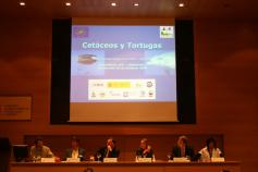 Los socios de INDEMARES presentado el proyecto / INDEMARES partners presenting the project ©Fundación Biodiversidad