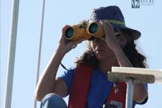 Marisa Tejedor en la torre de avistamientos © SECAC