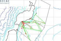 Mapa de los transectos realizados © SECAC