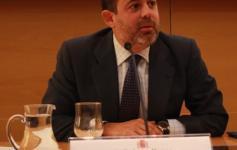 Federico Ramos - Secretario de Estado de Medio Ambiente - durante su discurso en el Seminario sobre el proyecto INDEMARES celebrado en marzo de 2013