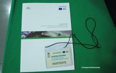 Ejemplo del material entregado en las Jornadas sobre gestión y financiación de la Red Natura 2000 marina