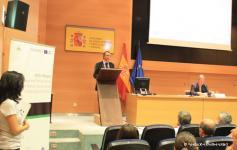 Jose Luis García Varas dando la palabra a Javier Ruiz Tomás