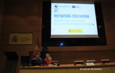 Óscar Esparza y Beatriz Ayala (WWF) preparando las jornadas sobre Red Natura 2000 marina