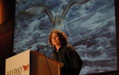 Sonia Castañeda - Directora de la Fundación Biodiversidad - durante su presentación del proyecto INDEMARES en el congreso WILD10, celebrado en octubre de 2013.